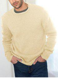 Plain Rolled Neck Crew Pullover Sweater -