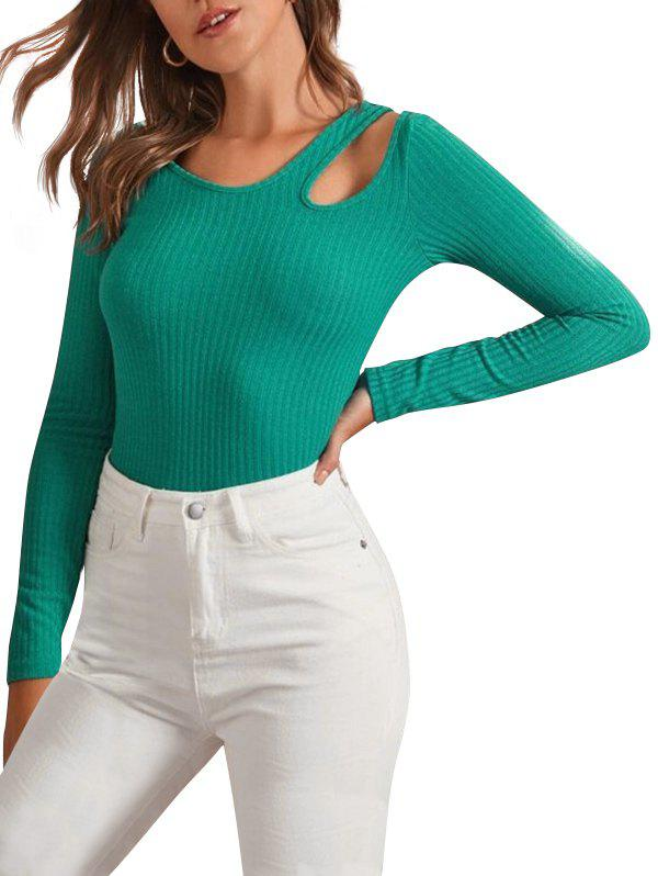 Sale Cutout Plain Pullover Knitwear