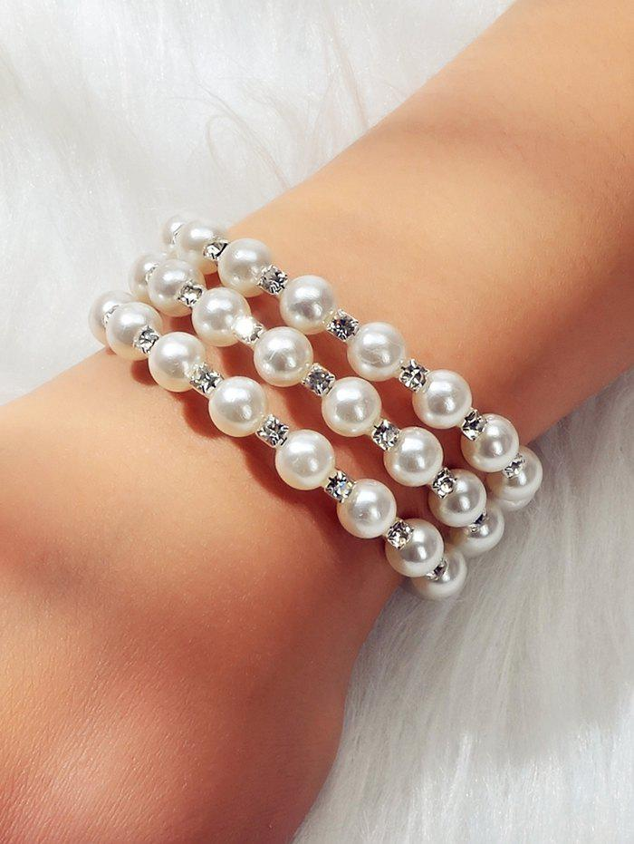 Discount Faux Pearl Layered Stretchable Bangle