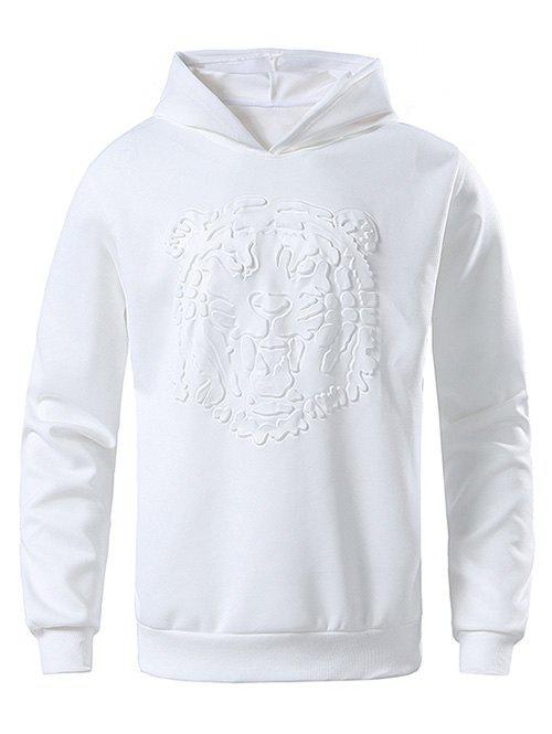 Store Tiger Embossed Solid Color Sweatshirt