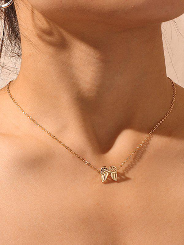 Fancy Wings Pendant Collarbone Necklace