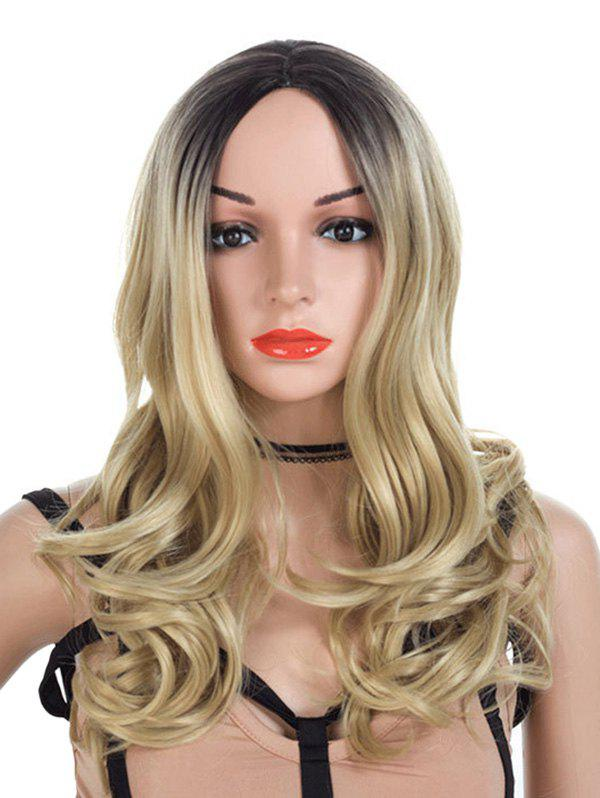Sale Middle Parting Synthetic Long Colormix Wavy Wig