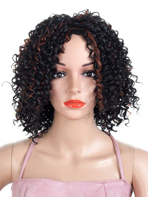 Shops Medium Colormix Shaggy Curly Synthetic Wig