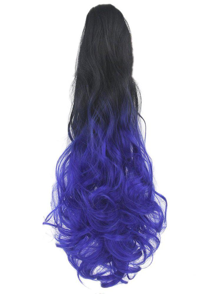 Trendy Long Body Wave Clip On Synthetic Ombre Hair Extension