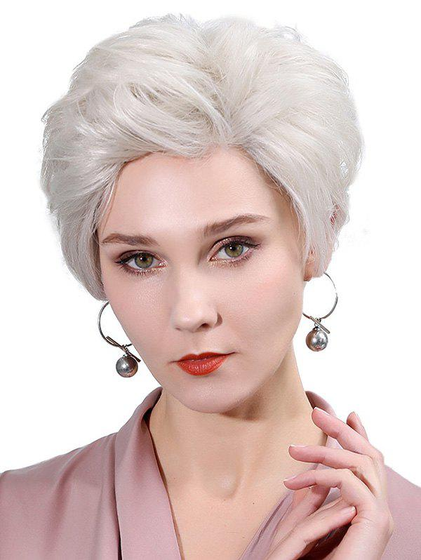 Latest Side Part Straight Fluffy Lace Front Human Hair Wig