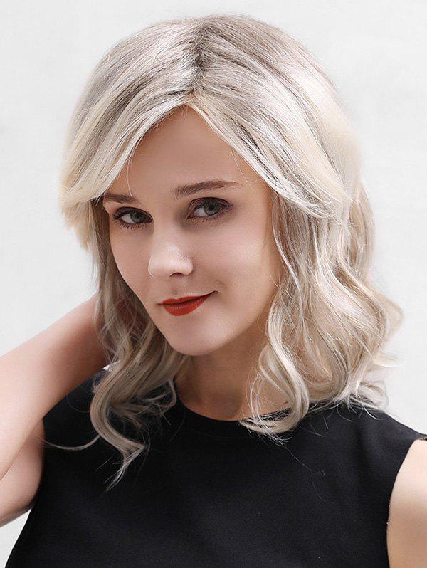 Discount Side Part Medium Wavy Lace Front Human Hair Wig