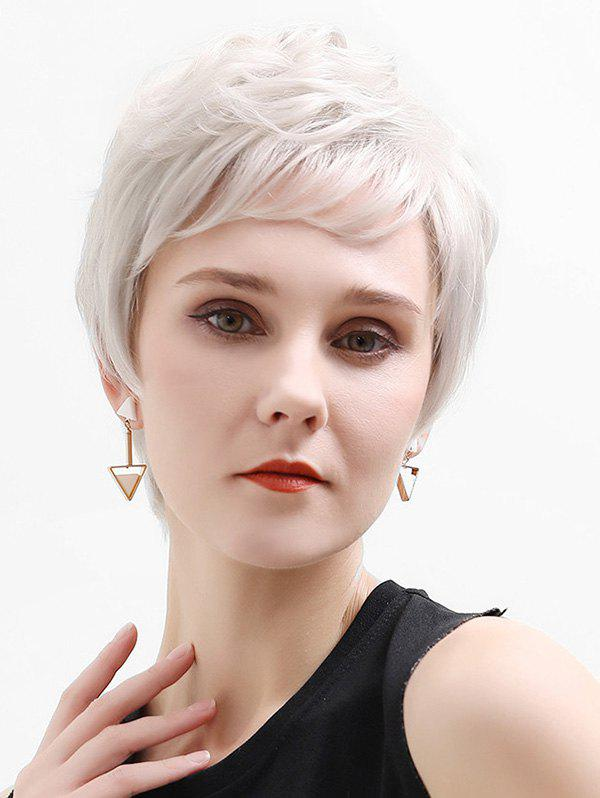 Discount Side Part Straight Short Human Hair Lace Front Wig