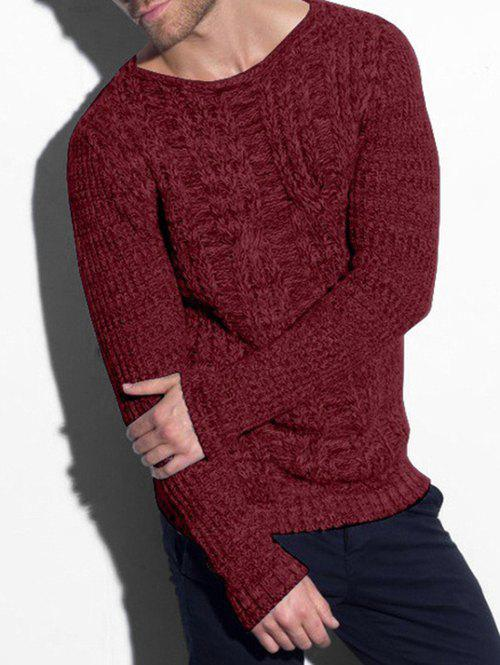 Latest Cable Knit Heather Pullover Sweater