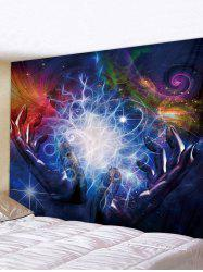 Hands Universe Print Tapestry Wall Hanging Art Decoration -