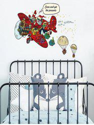 Father Christmas Gift Design Wall Sticker -