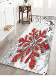 Christmas Snowflake Star Pattern Water Absorption Area Rug -