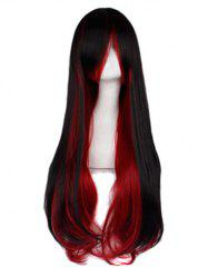 Long Straight Side Bang Cosplay Synthetic Party Wig -