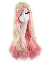Side Bang Body Wave Ombre Long Synthetic Cosplay Wig -