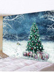 Christmas Tree Gifts House Print Tapestry Wall Hanging Art Decoration -