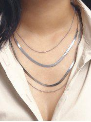 Brief Herringbone Chain Layered Necklace -