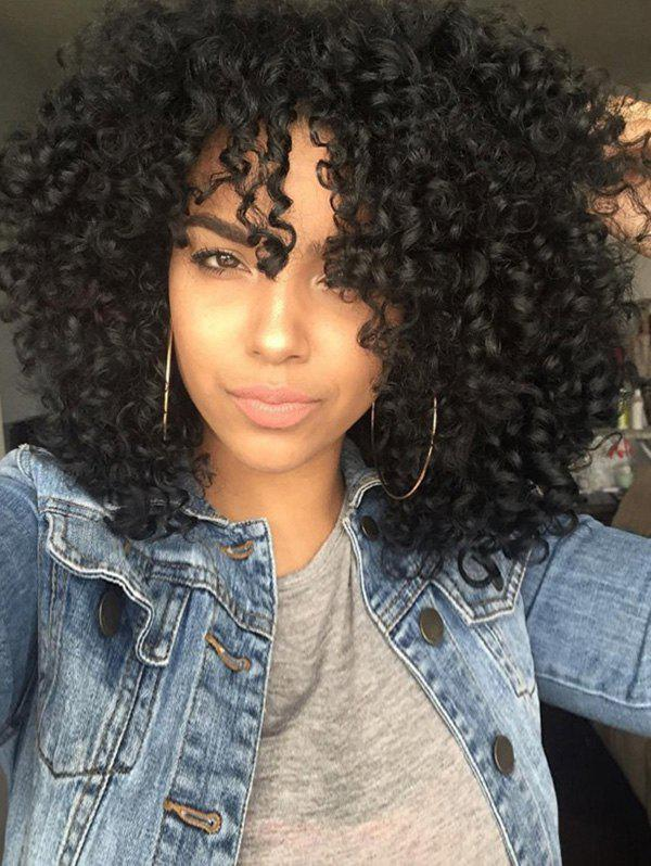 Fashion Afro Curly Long Cosplay Synthetic Party Wig