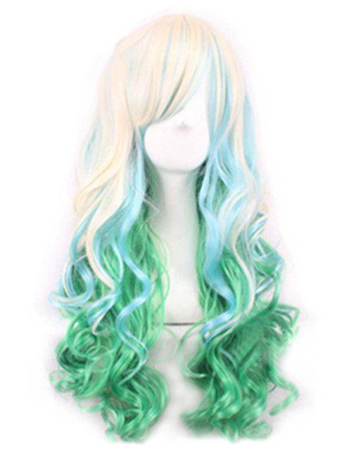 Hot Ombre Party Cosplay Long Body Wave Synthetic Side Bang Wig
