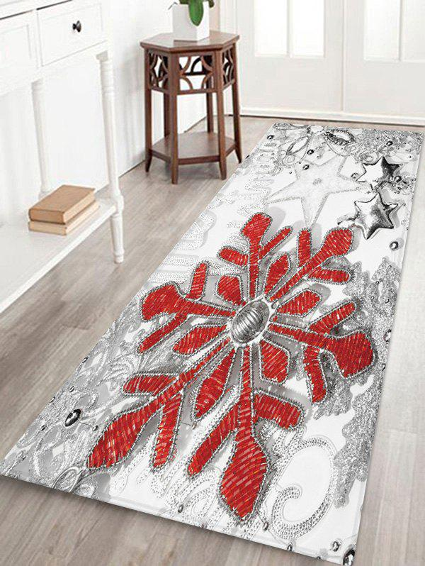 Hot Christmas Snowflake Star Pattern Water Absorption Area Rug