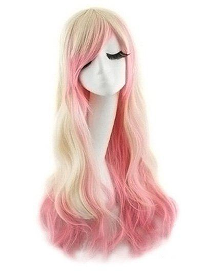 Unique Side Bang Body Wave Ombre Long Synthetic Cosplay Wig