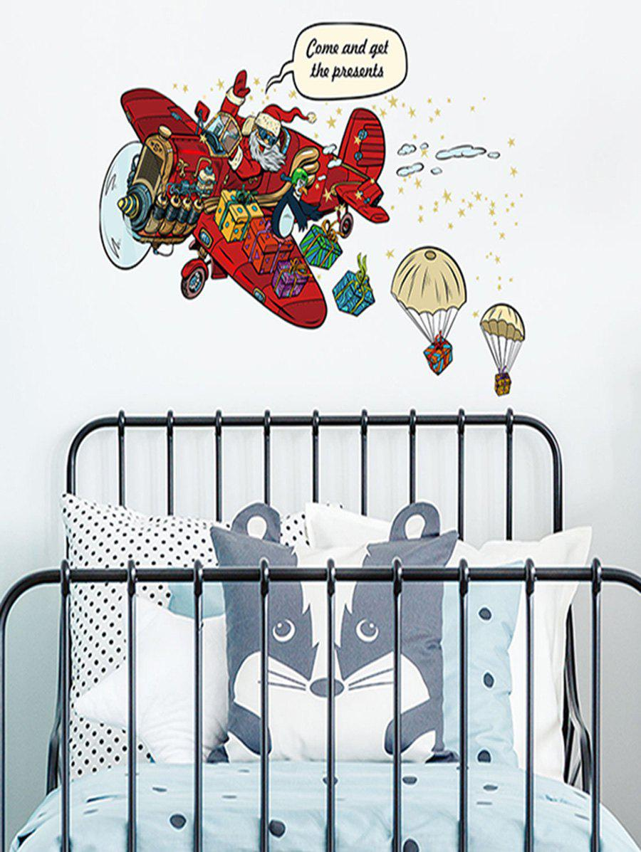 Outfits Father Christmas Gift Design Wall Sticker