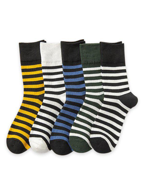 Shops 5Pairs Sports Striped Print Socks Set