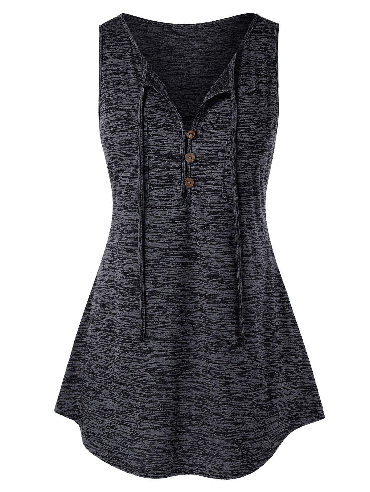 Plus Size Embellished Button Vest Rosegal
