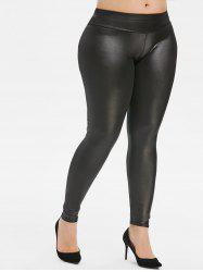 Plus Size Leggings en cuir Faux -