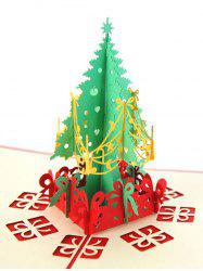 3D Hollow Tree Christmas Greeting Card -