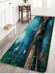 Moon Night Forest River Pattern Water Absorption Area Rug -