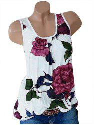 Plus Size Floral Print Swing Tank Top -