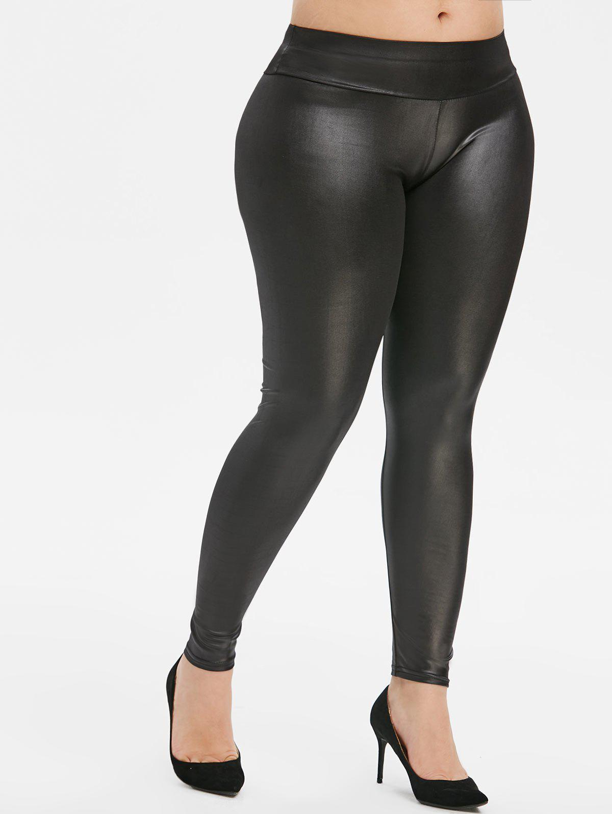 Plus Size Leggings en cuir Faux