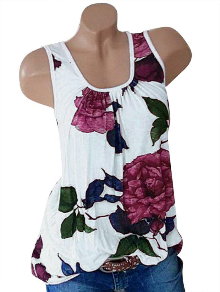 Buy Plus Size Floral Print Swing Tank Top