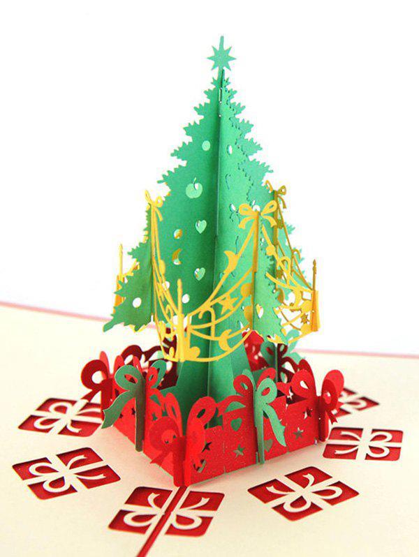 Best 3D Hollow Tree Christmas Greeting Card