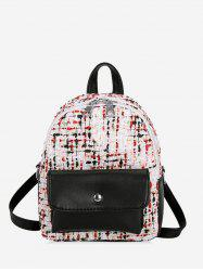 Flap Pocket Mini Boucle Backpack -
