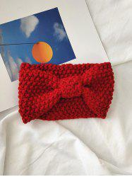 Solid Bowknot Knit Headband -
