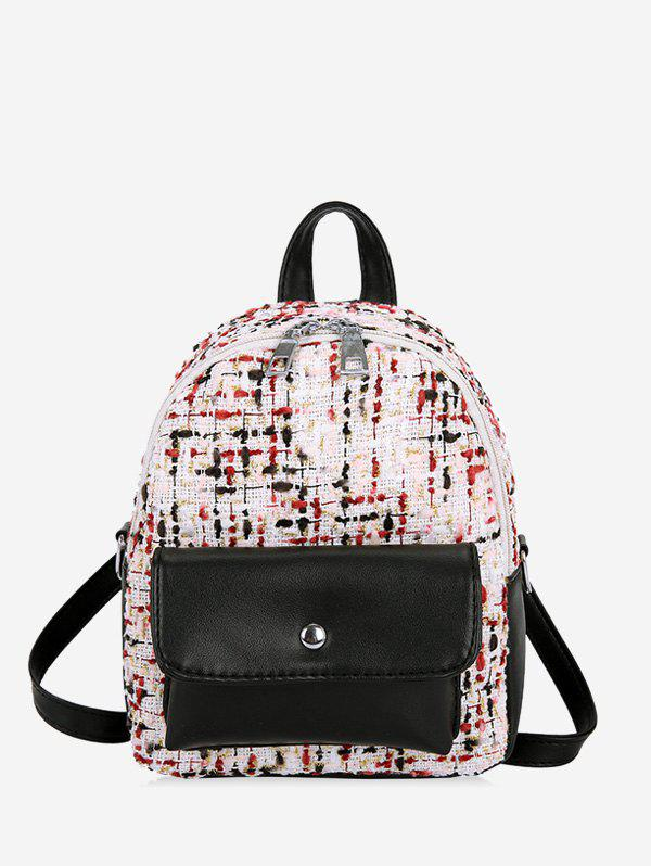 New Flap Pocket Mini Boucle Backpack