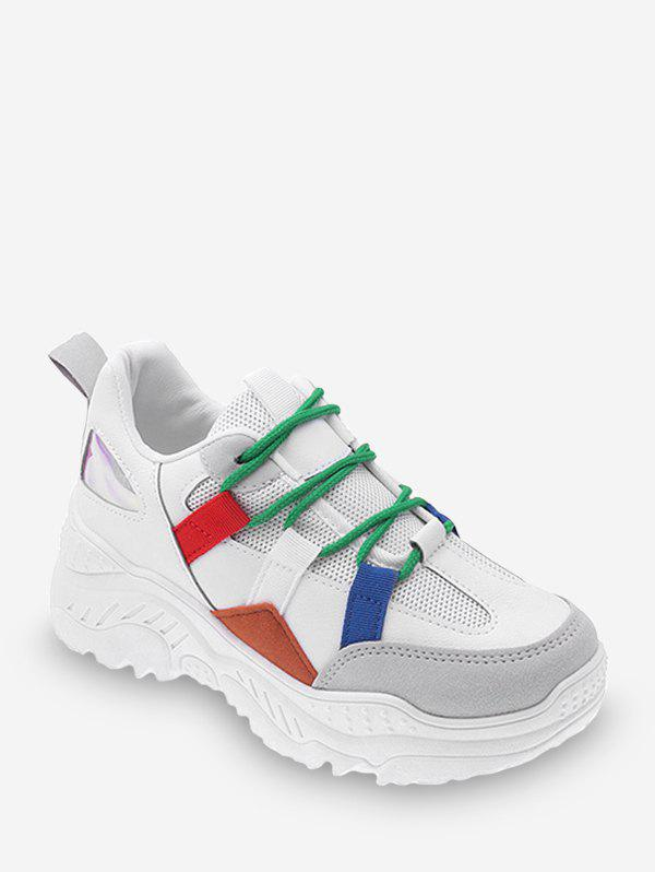 Shops Color-blocking Breathable Outdoor Chunky Sneakers