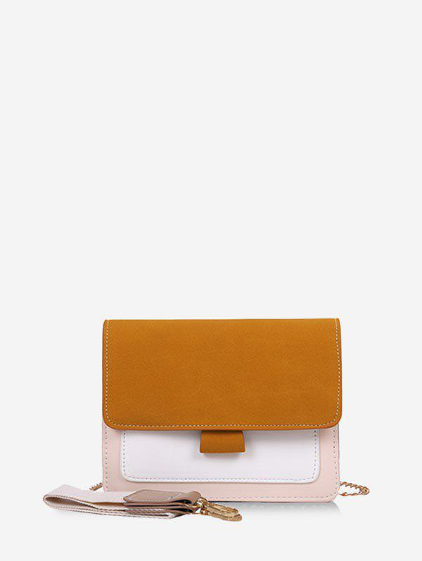 Shop Convertible Strap Color-blocking Square Crossbody Bag