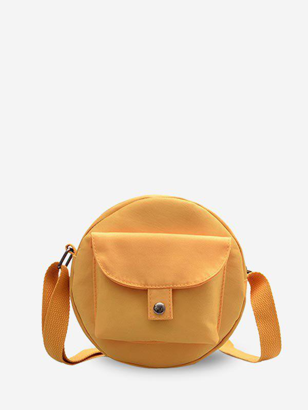 Store Round Solid Pocket Canvas Bag