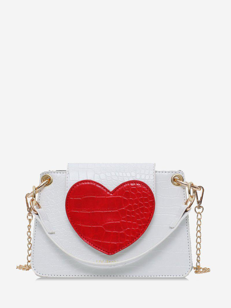 Unique Heart Pattern Leather Shoulder Bag