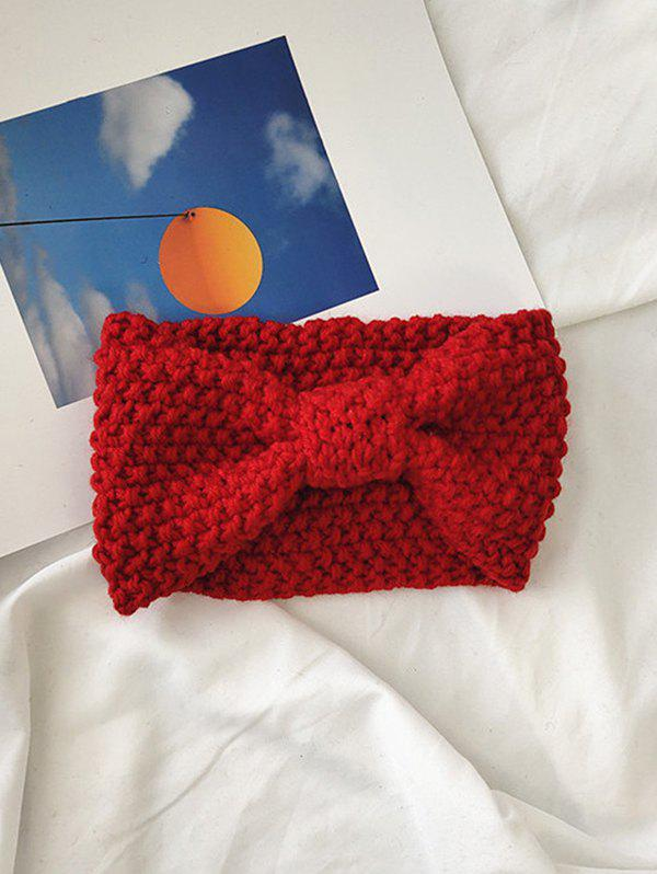 Discount Solid Bowknot Knit Headband