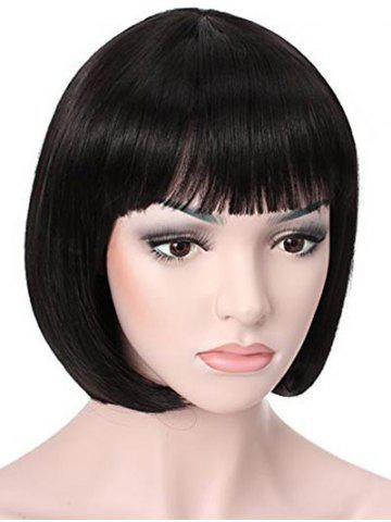 Synthetic | Straight | Short | Bang | Full | Wig | Bob
