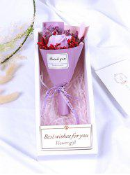 Valentine Day Gift Artificial Soap Rose Flowers Bouquet -