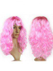 Long Side Fringe Wavy Synthetic Cosplay Wig -