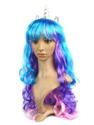 Layered Body Wave Full Bang Long Synthetic Horn Cosplay Wig -