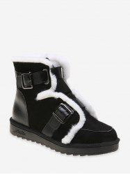 Dual Buckle Ankle Snow Boots -