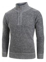 Quarter Solid Color Zip Pull - Gris Foncé L