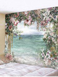 Flower Sea Print Tapestry Wall Hanging Art Decoration -