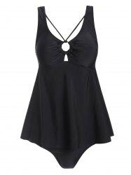 Ring Strappy Padded Tankini Swimsuit -