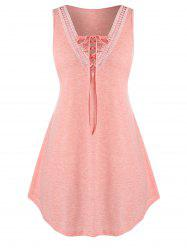 Plus Size Lace Up Tank Top swing -